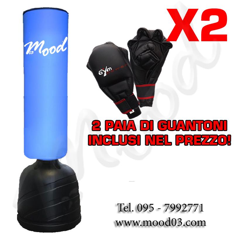 SACCO FITBOXE ALTEZZA REGOLABILE MAX 205cm BASE ANTISCIVOLO Cappuccio 100x35cm + 2 PAIA DI GUANTONI [RICHIEDI SCONTO]